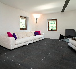 photo du produit Carrelage Sol Lands Black 45x45