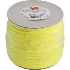 photo du produit Corde Nylon Tressé 1mm Fluo 100ml
